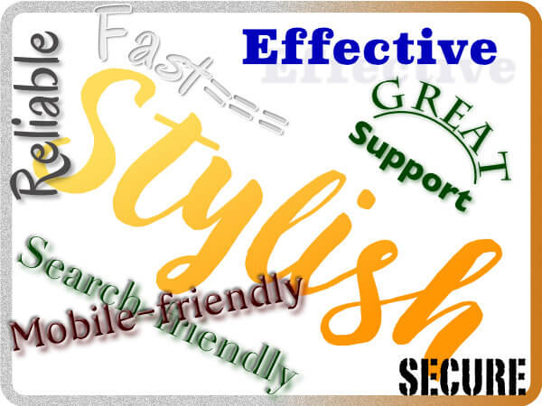 stylish effective fast reliable secure great support search-friendly mobile-friendly