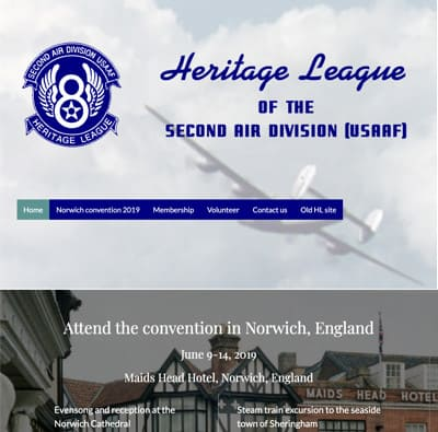 heritageleague.org home page