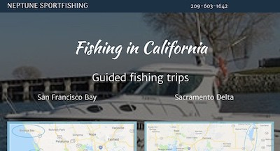 Neptune Sport Fishing home page