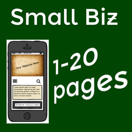 Diagram of Small biz website bundle